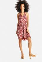 Glamorous - Halter Neck Patchwork Dress