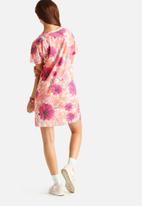 Hype - Marble Splat Floral T-Shirt Dress