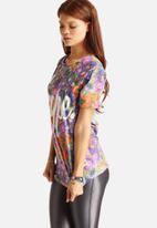 Hype - Violet Fade Floral T-Shirt