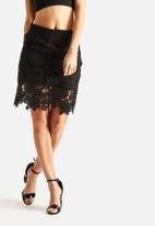 Glamorous - Lace Floral Skirt