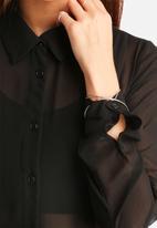Glamorous - Tiered Chiffon Shirt Dress