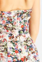 Glamorous - Summer Rose Playsuit