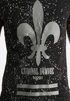 Criminal Damage - Splatter Reflective T-shirt