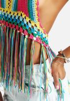 Glamorous - Rainbow Crochet Top