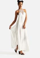 The Lot - Tied Down Halter Maxi Dress