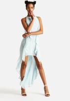 The Lot - Oceanic Sheer Hi Lo Dress