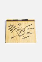 Three by Three - Desktop Dry Erase Tablet Bamboo