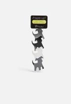 Three by Three - Shape Up Metal Magnets Dogs