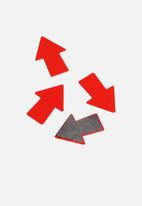 Three by Three - Shape Up Metal Magnets Arrows