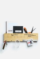 Three by Three - Sort It Out Dry Erase Wall Caddy Bamboo