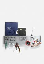 Three by Three - Sort It Out Dry Erase Wall Caddy Stainless