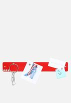 Three by Three - Mini Magnetic Strip Bulletin Board Red