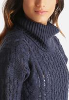 Noisy May - Goth Roll Neck Sweater