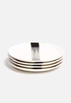 Urchin Art - Set of 4 Brushstroke Side Plates