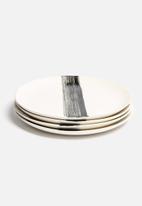 Urchin Art - Set of 4 Brushstroke Dinner Plates