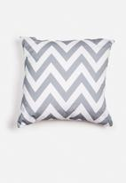 Sixth Floor - Chevron printed cushion