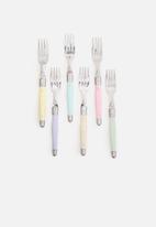 Superbalist Wine & Dine - 24 Pce Pastel Cutlery Set