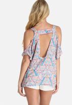 Lola May - Oversized Aztec Printed Tunic Top