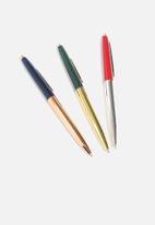 Big Blue - Metal retro pens