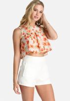 Lola May - Floral Cropped Smock Top