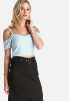 Lola May - Cold Shoulder Fitted Top