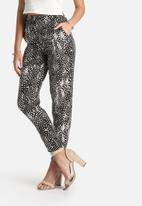 Lola May - Silky Feather Print Trousers