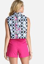 Lola May - High Neck Printed Cropped Top