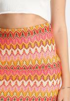 Lola May - Chevron Knitted Skirt