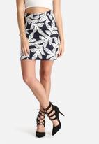 Lola May - Palm Leaf Print Skirt