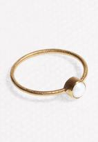 Black Betty - Stacking Pearl Ring