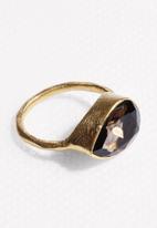 Black Betty - Tear Stone Ring