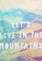 Superbalist Wall Art - Live In The Mountains Wall Hanging