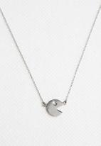 Kirsten Goss - Mini Charm Pacman Necklace Silver