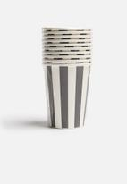 In Good Company - Striped paper cups