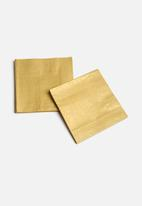 In Good Company - Gold Napkins