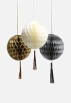 In Good Company - Metallic Honeycombs with Tassels