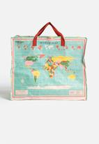 Heart and Home - Vintage World Map Jumbo Shopper