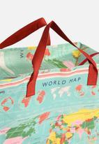 Heart and Home - Vintage World Map Jumbo Shopper