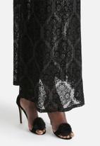 Motel - Maxi Romantic Flocking Lace Skirt
