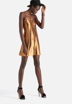 Motel - Tiffany Metalic Shine Slip Dress
