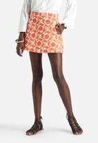 Motel - Sora Rigid Twill Western Paisley Skater Skirt
