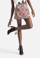 Motel - Anika A-Line Tile Print Skirt