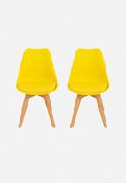 Eleven Past - Set of 2 Eames Inspired Chairs