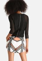 Goldie - Turbo Stripy Lace Top