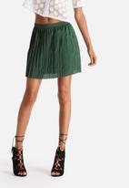 Goldie - Platform Satin Pleated Skirt