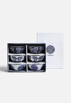 Love Home - 6 Geo Bowls - Cobalt Blue