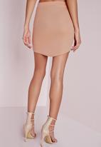 Missguided - Ponte Curve Hem Mini Skirt