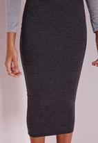 Missguided - Longline Jersey Midi Skirt