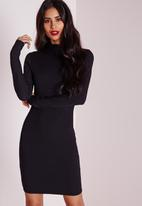Missguided - High Neck Ribbed Bodycon Dress