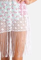 South Beach  - Crochet Fringe Kaftan